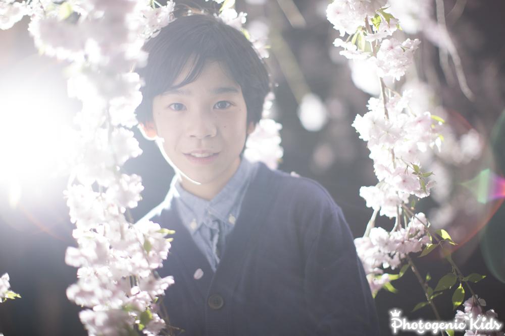 夜桜ポートレート