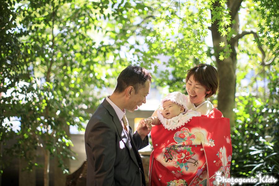 赤坂 乃木神社にて、お宮参り出張撮影をさせていただきました よくあるご質問4お宮参り出張撮影で赤ちゃんが泣いてしまったらどうするのですか?