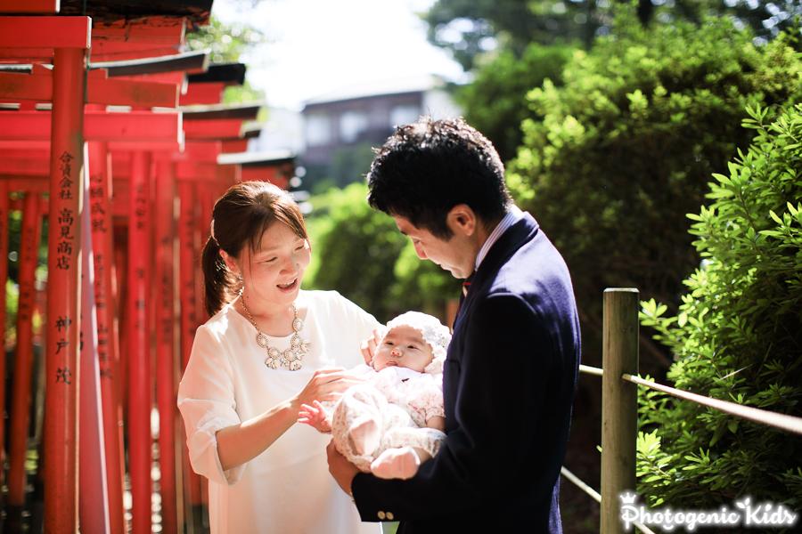 根津神社(東京 文京区)にて、お宮参り出張撮影させていただきました