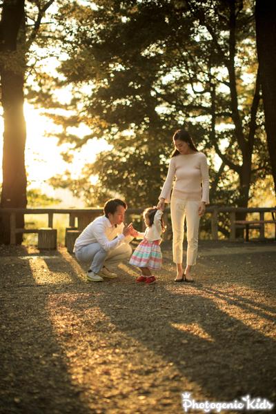 多摩川台公園(大田区 田園調布)にてご家族写真を撮影させていただきました。