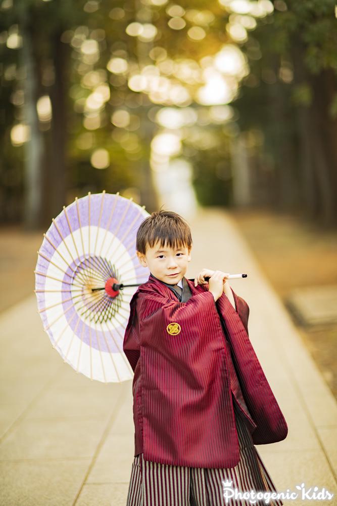 七五三出張撮影 立川 諏訪神社にて