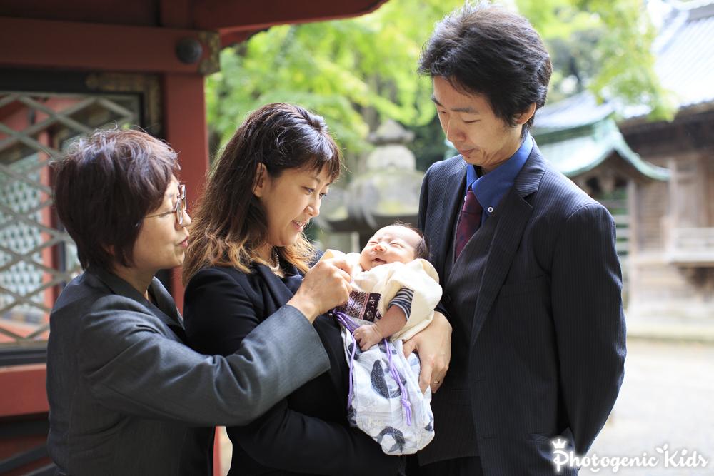 根津神社 お宮参り 出張撮影
