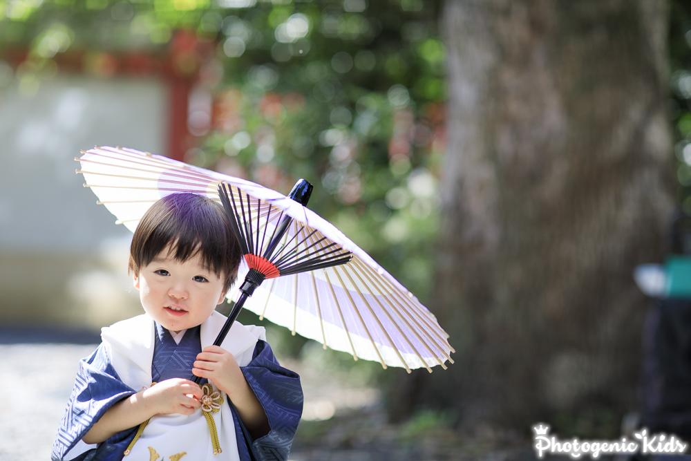 日枝神社 七五三 出張撮影 被布姿がカワイイ三歳の男の子♡