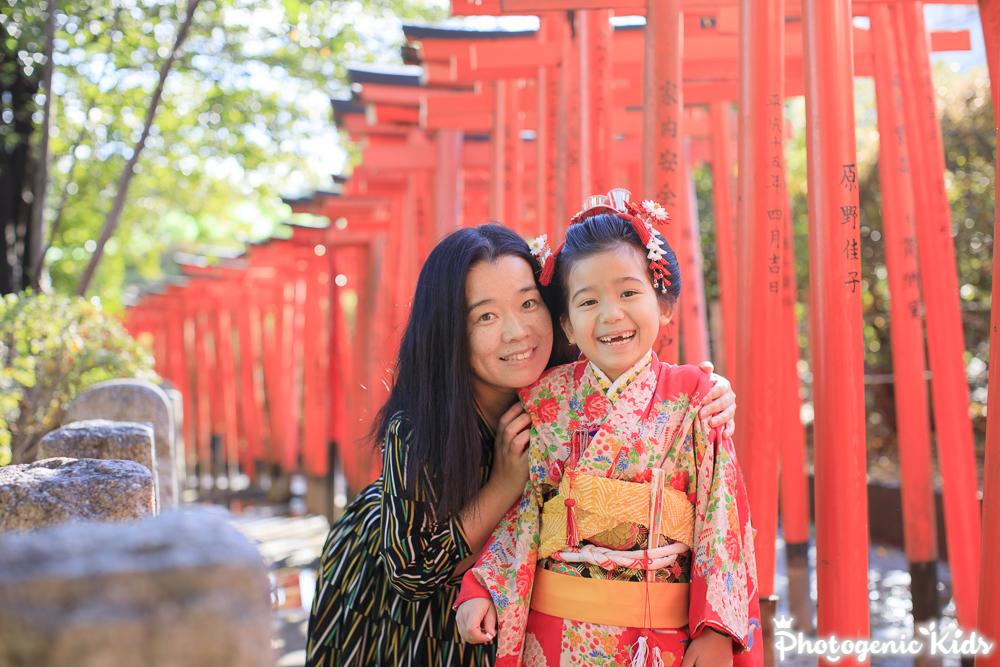 娘の七五三 文京区根津神社