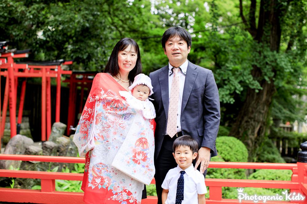 根津神社(東京都文京区)にお宮参り出張撮影