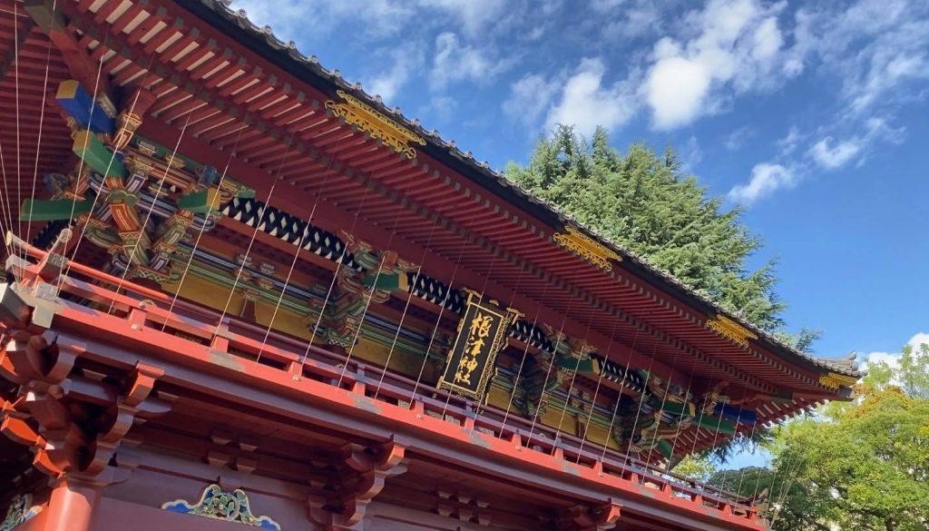 根津神社で七五三出張撮影