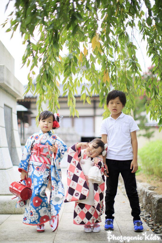 西新井大師で七五三出張撮影