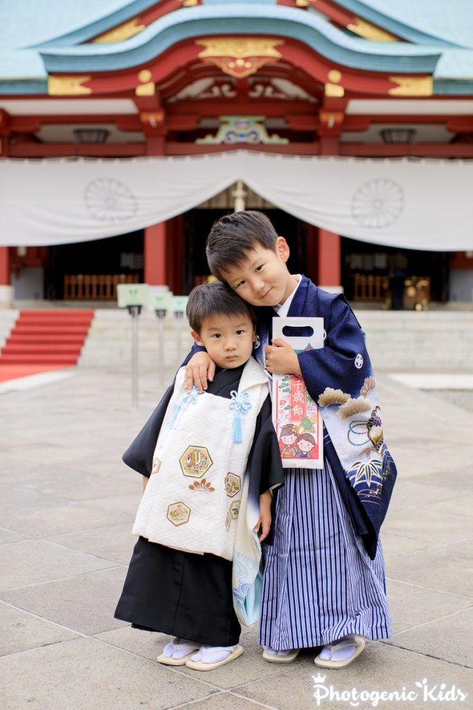 日枝神社 七五三 集合写真