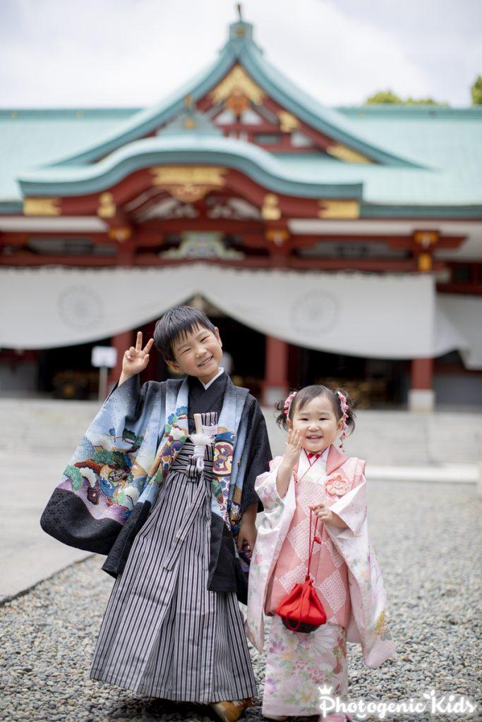 赤坂日枝神社に七五三お宮参り動画お写真出張撮影