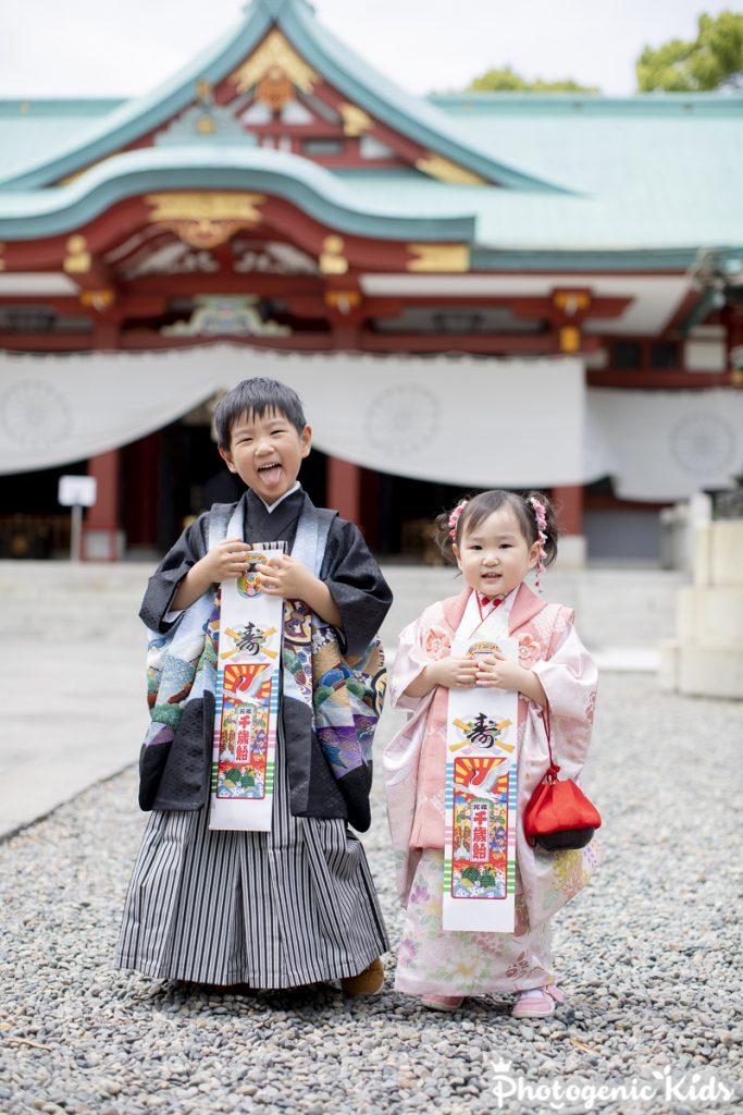 赤坂日枝神社に七五三動画お写真出張撮影