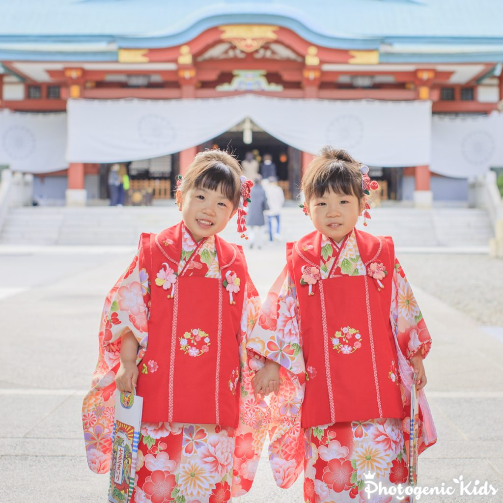 日枝神社で七五三出張撮影
