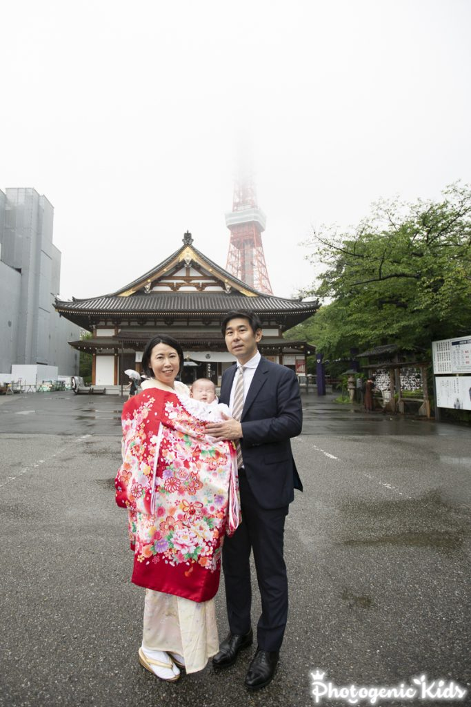 増上寺でお宮参り出張撮影
