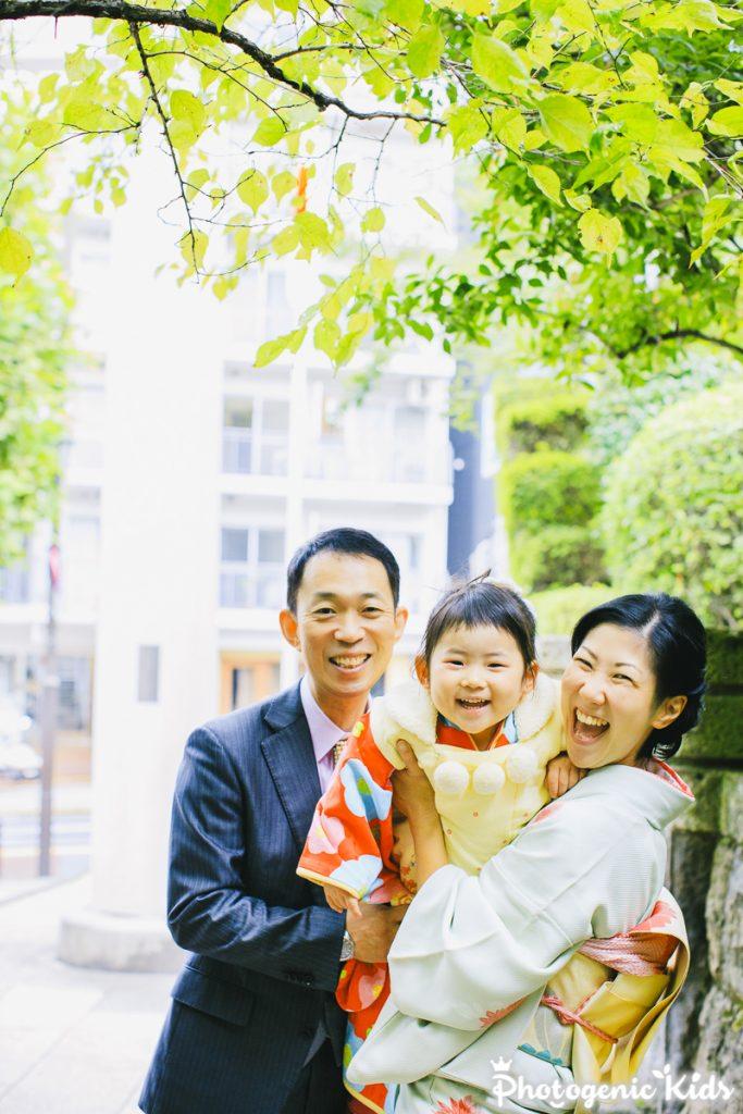 乃木公園と乃木神社で七五三出張撮影