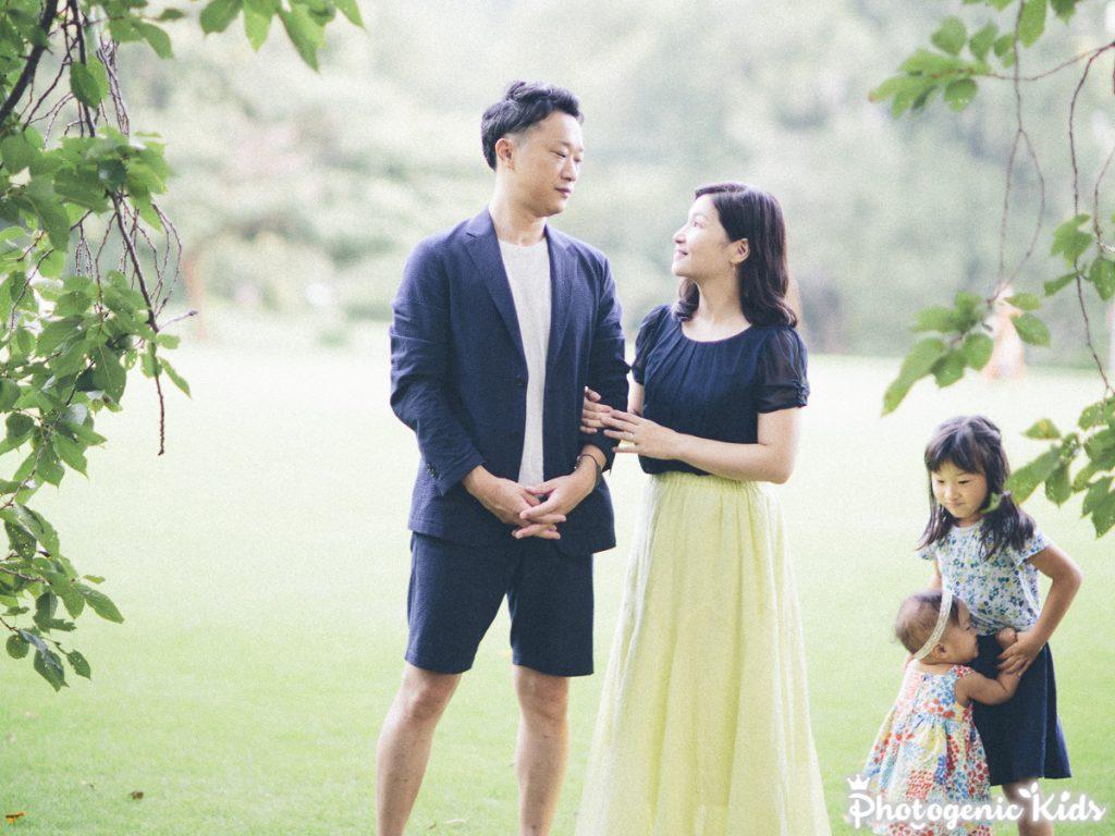 新宿御苑で家族写真と一歳のお誕生日撮影